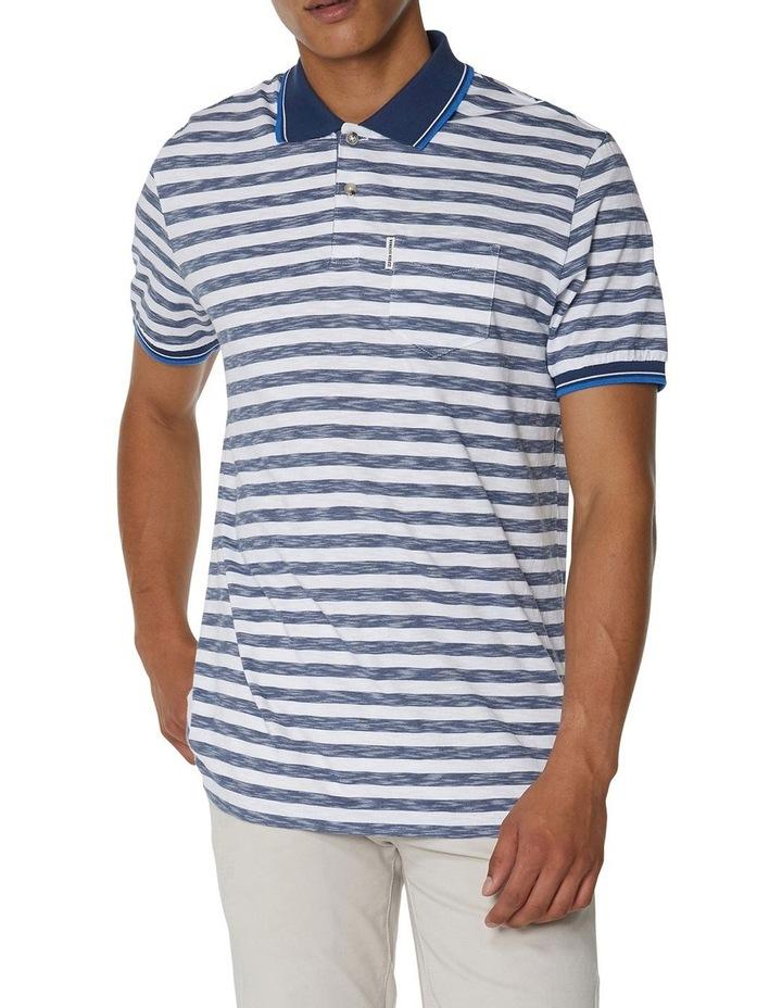 Slub Stripe Pocket Polo image 1