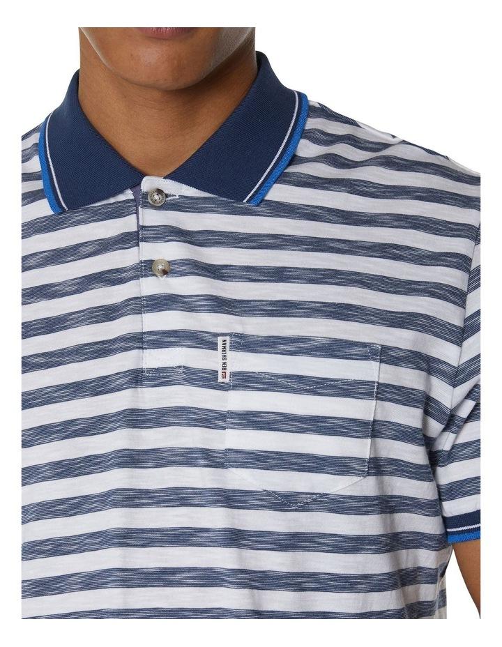 Slub Stripe Pocket Polo image 2