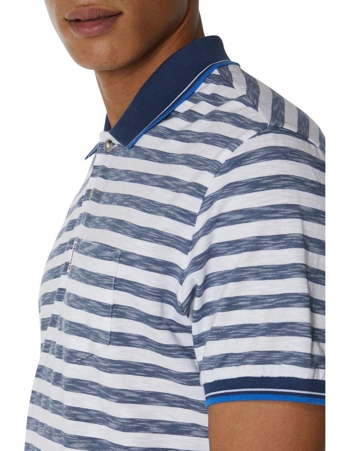 Slub Stripe Pocket Polo image 3