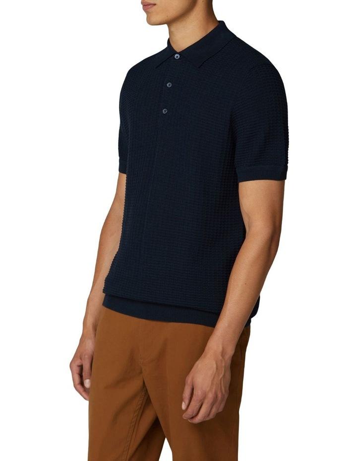 Tonal Texture Short Sleeve Polo image 1