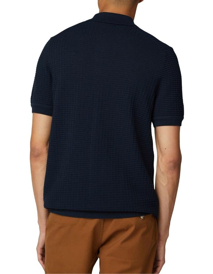 Tonal Texture Short Sleeve Polo image 2