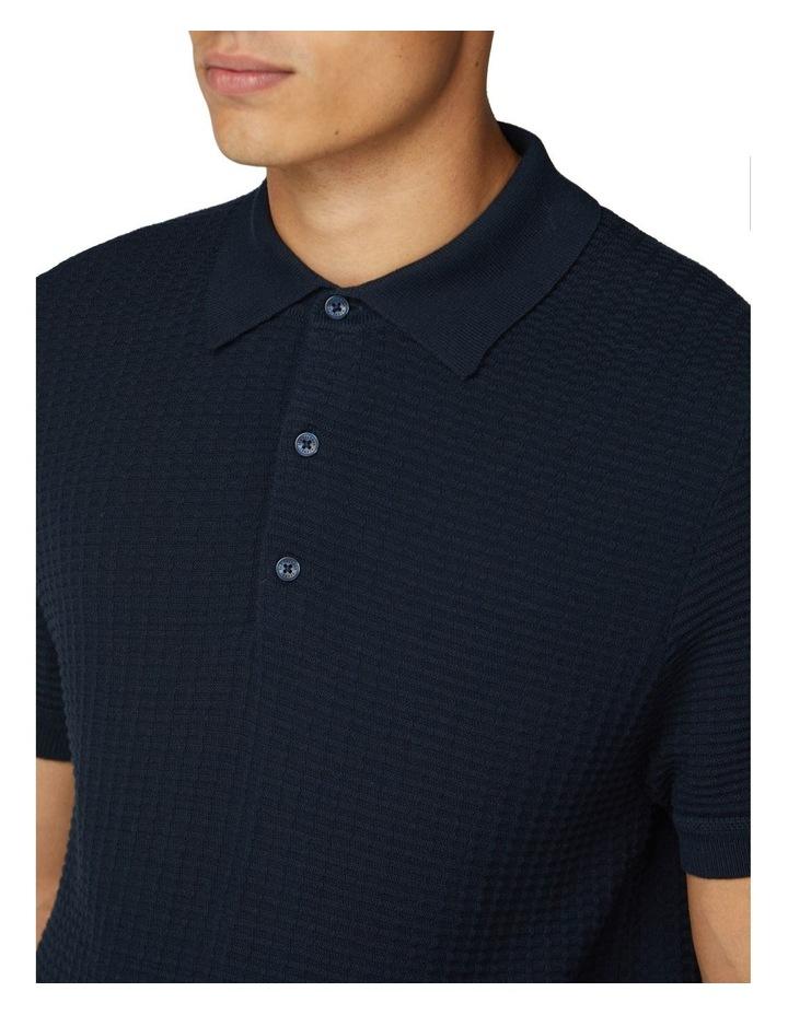 Tonal Texture Short Sleeve Polo image 3