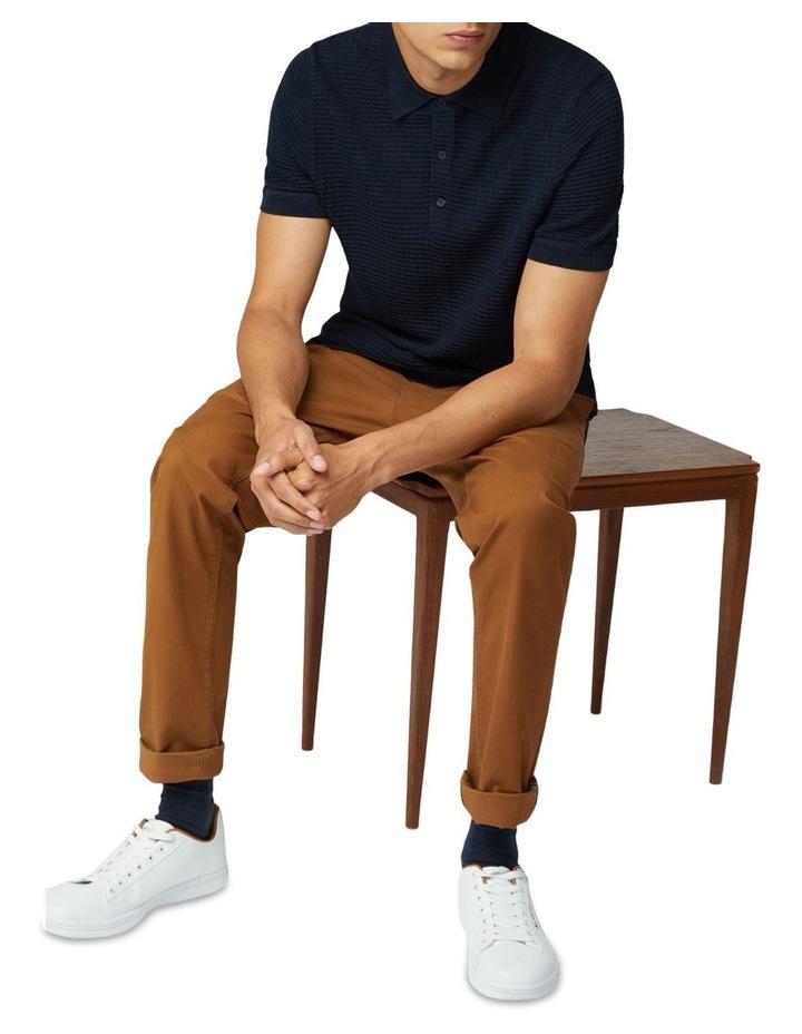 Tonal Texture Short Sleeve Polo image 5