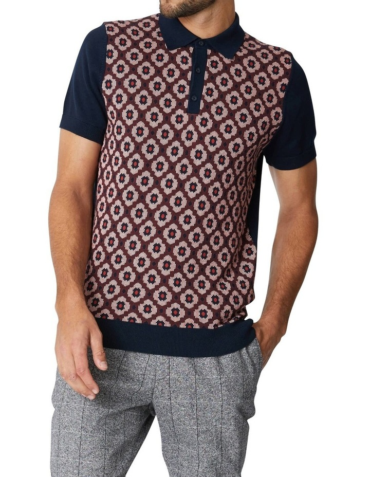 Pattern Front Knitted Polo image 1