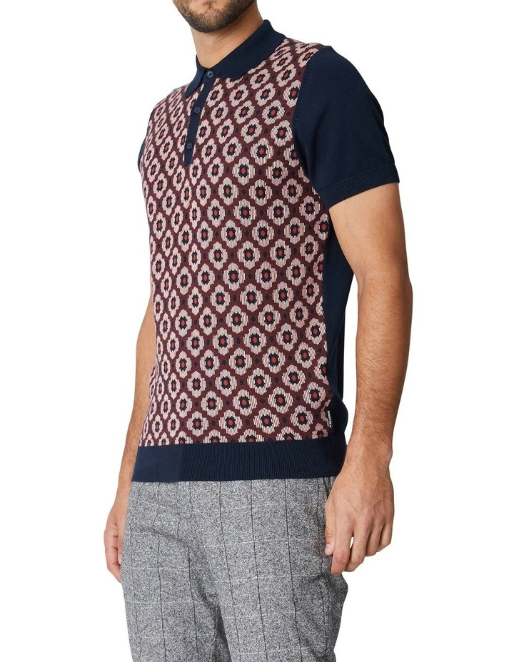 Pattern Front Knitted Polo image 3