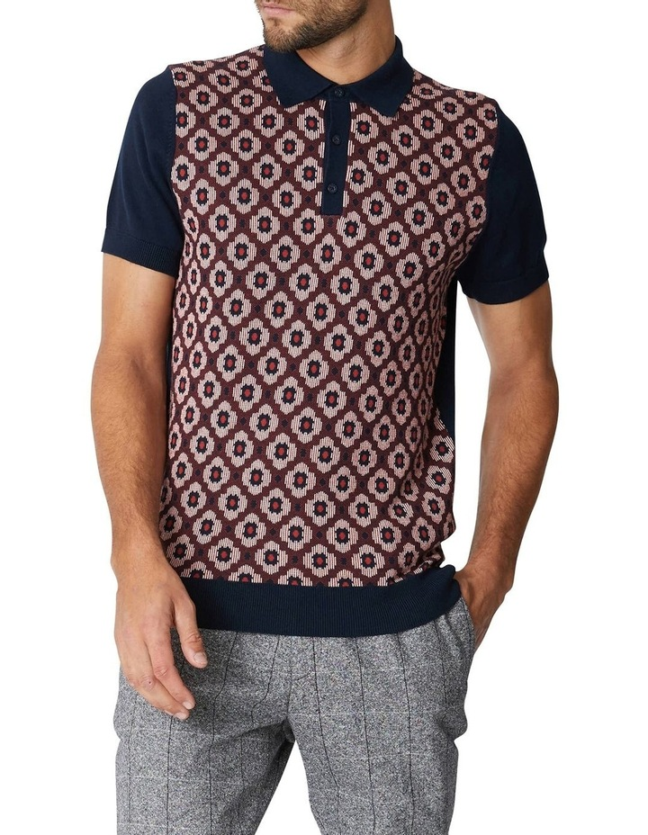 Pattern Front Knitted Polo image 5