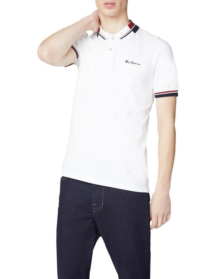 Stripe Collar Pique Polo image 1