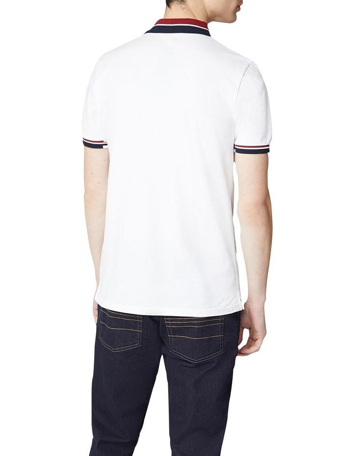 Stripe Collar Pique Polo image 2