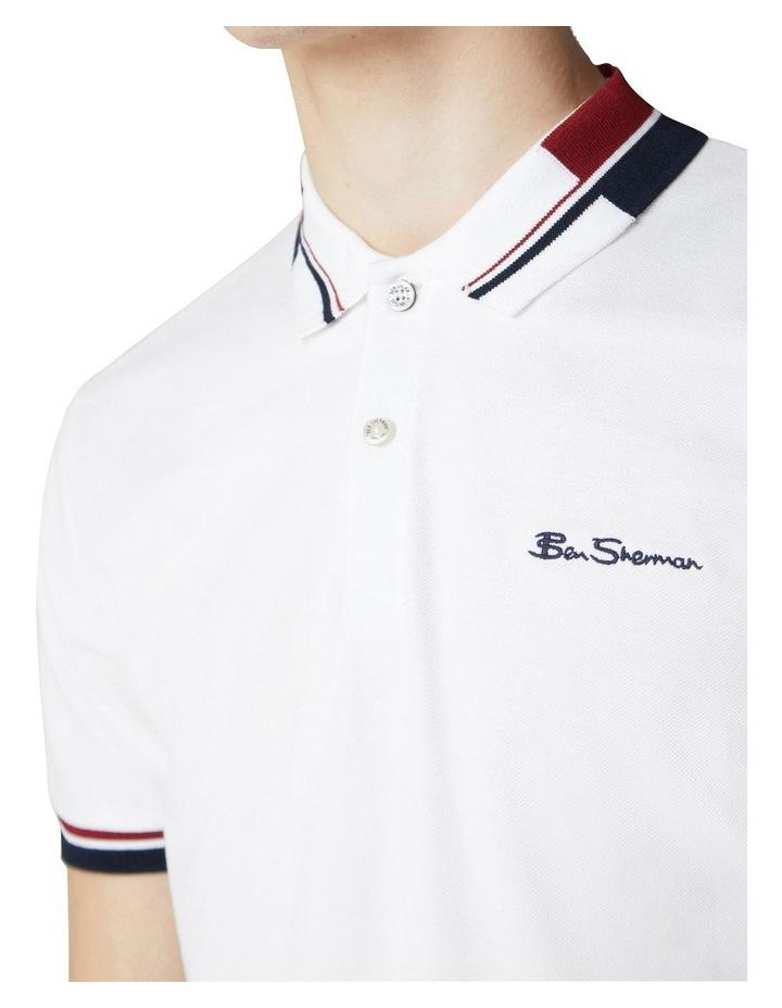 Stripe Collar Pique Polo image 3