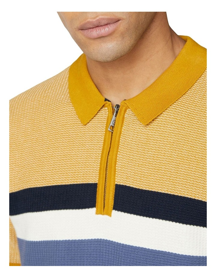 Chest Stripe Zip Knit image 3