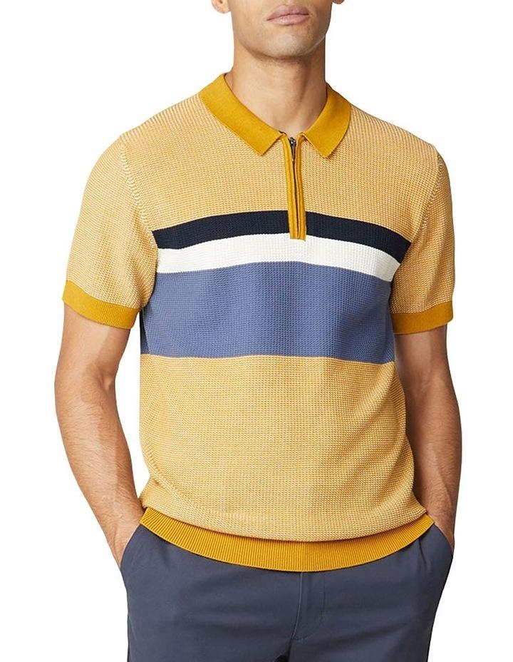 Chest Stripe Zip Knit image 4
