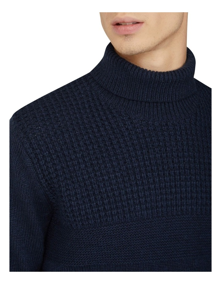 Textured Roll Neck Knit image 3