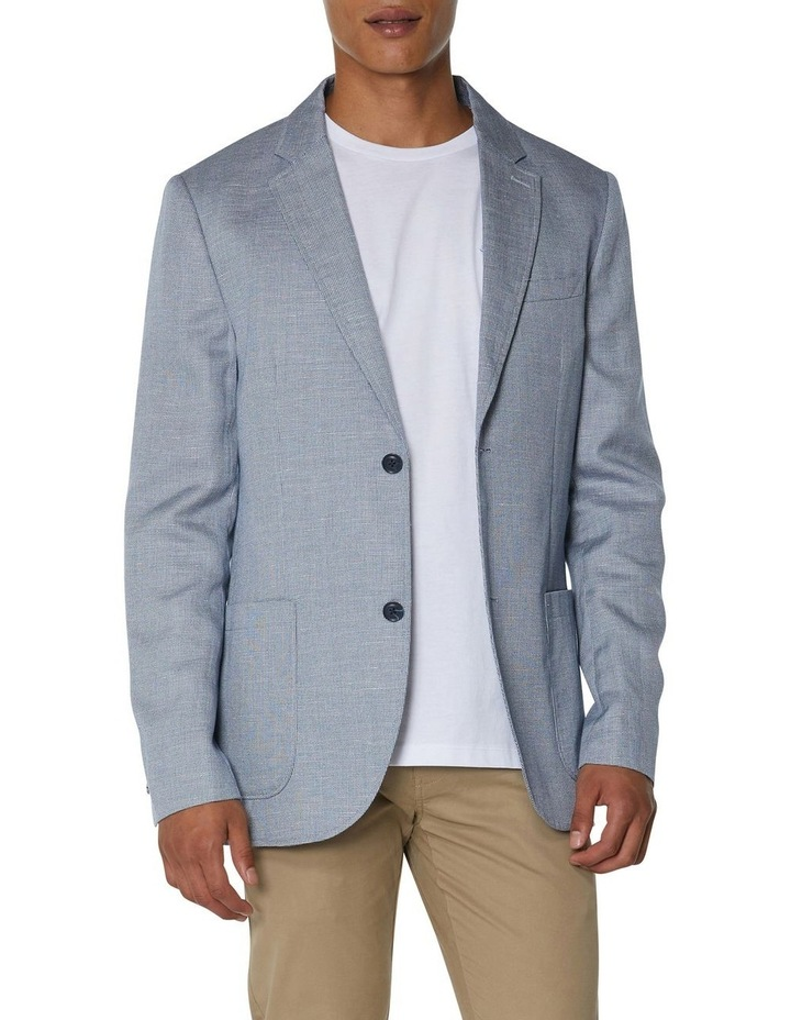 Textured Linen Blend Blazer image 1