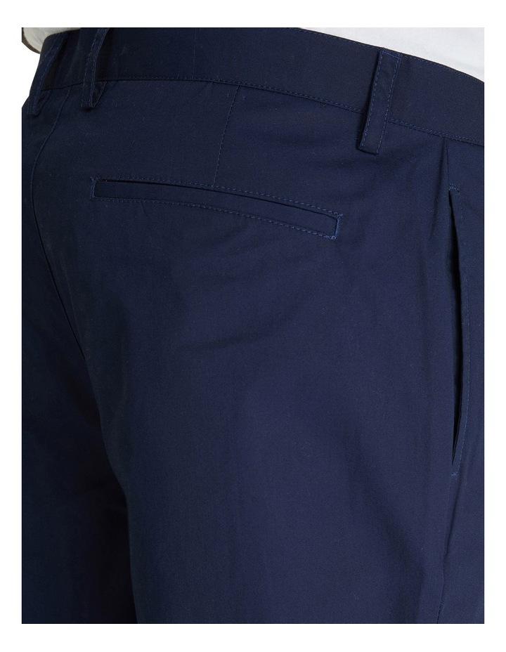 Poplin Relaxed Taper Pleat Trouser image 4