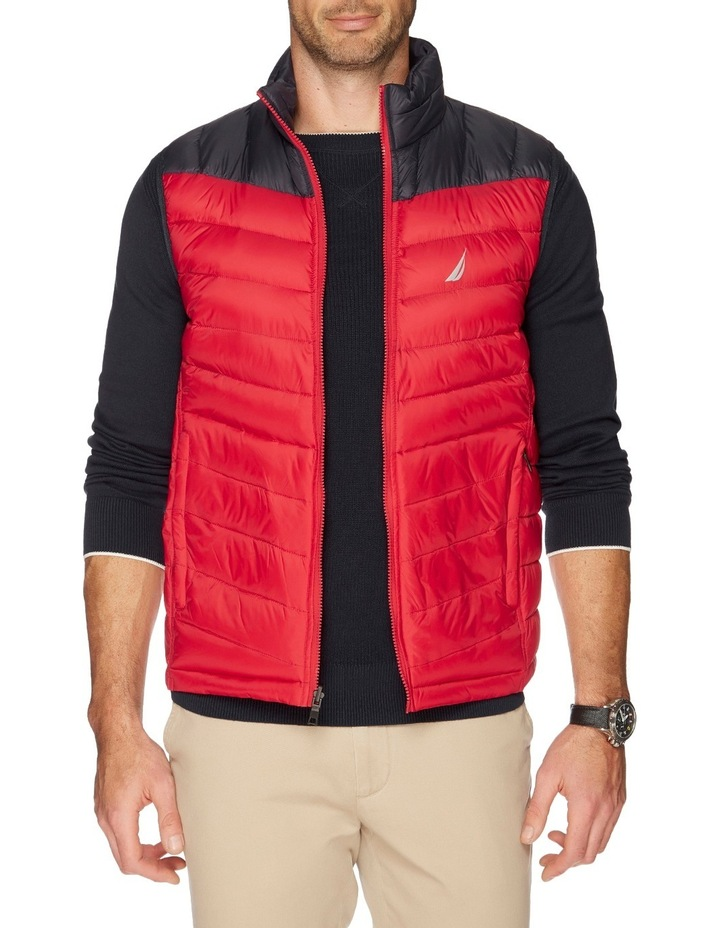 Hooded Down Quilted Vest image 1