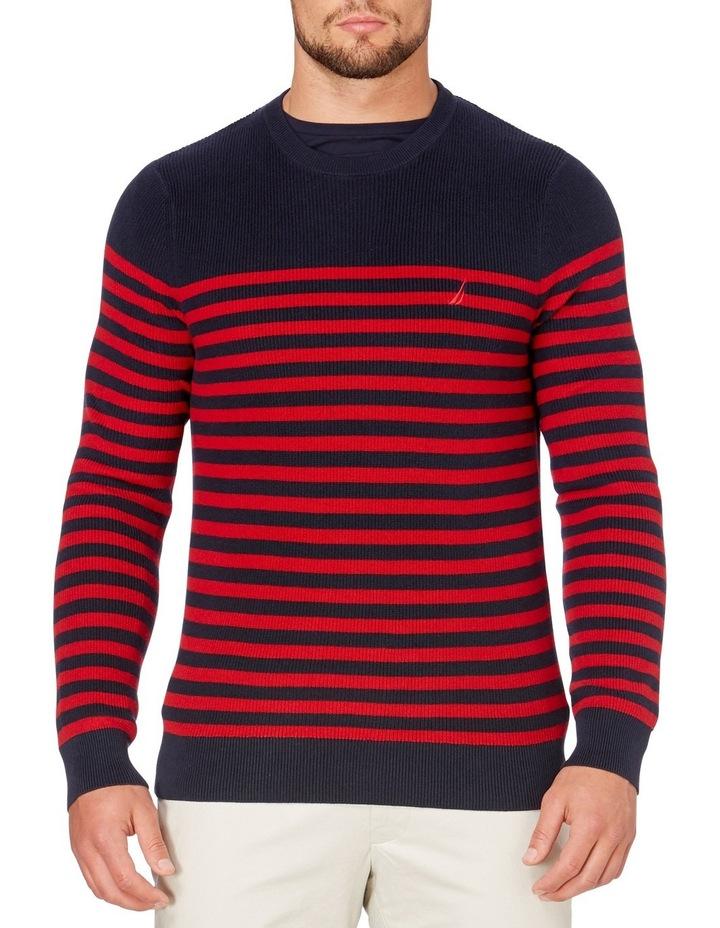 Crew Neck Bretton Stripe Sweater image 1