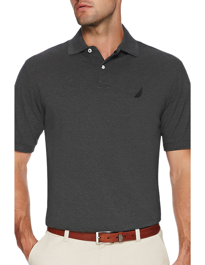 Short Sleeve Solid Polo image 1