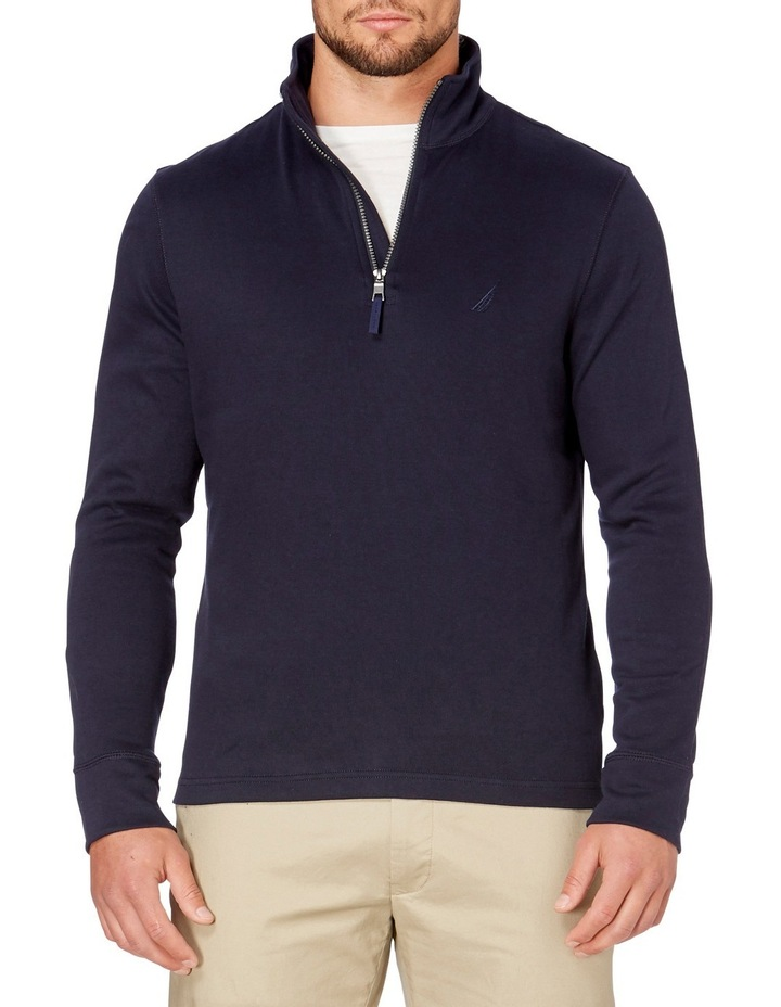 1/2 Zip Mock Neck image 1
