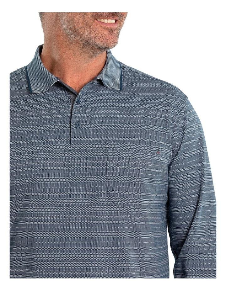 Stripe Micro Prima Long Sleeve Polo image 4