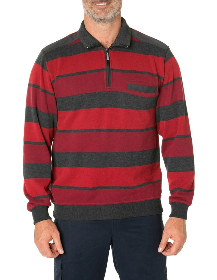 Hugo French Rib Half Zip Knit image 1