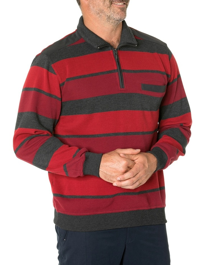 Hugo French Rib Half Zip Knit image 2
