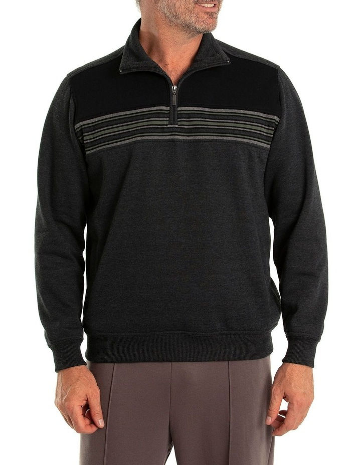Dex Snowy Mt Fleece Half Zip Sweat image 1