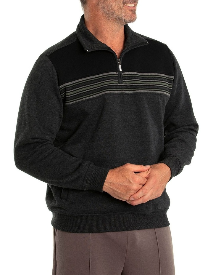 Dex Snowy Mt Fleece Half Zip Sweat image 3