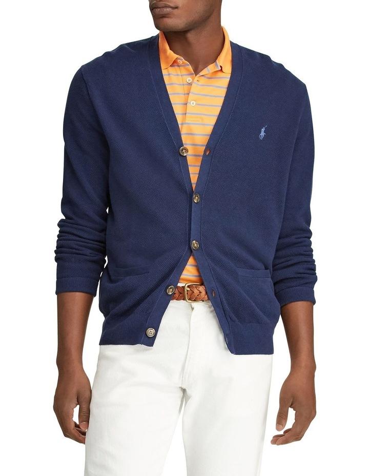 Linen-Cotton V-Neck Cardigan image 1