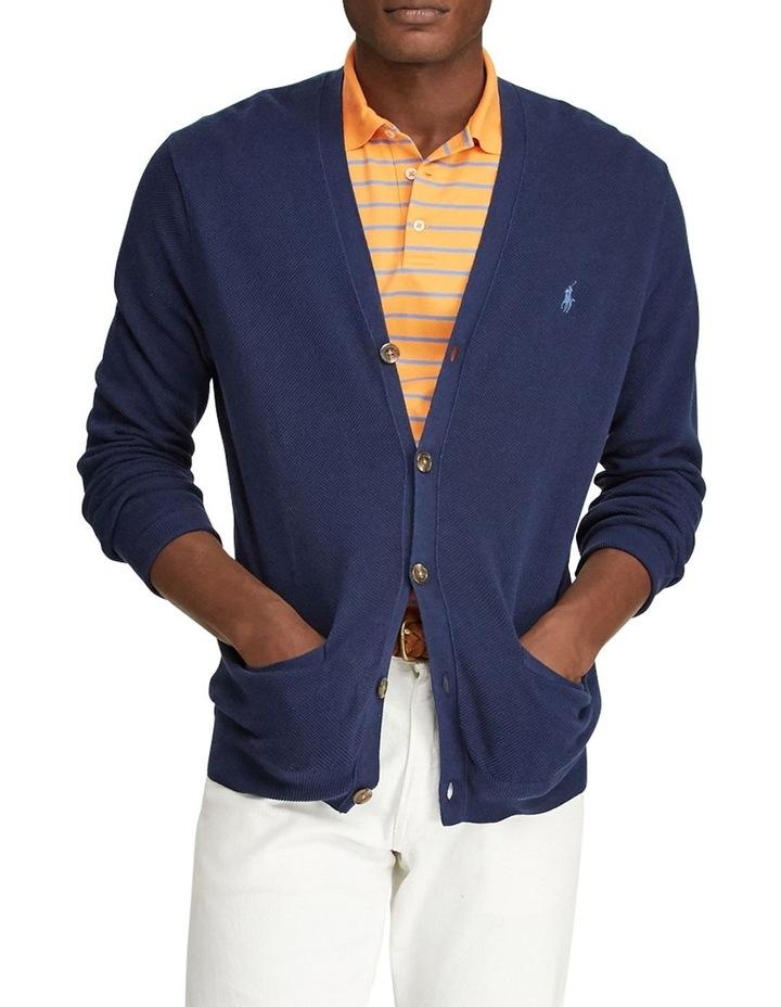 Linen-Cotton V-Neck Cardigan image 3