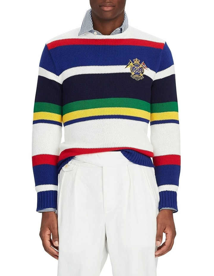 Striped Cotton Sweater image 1