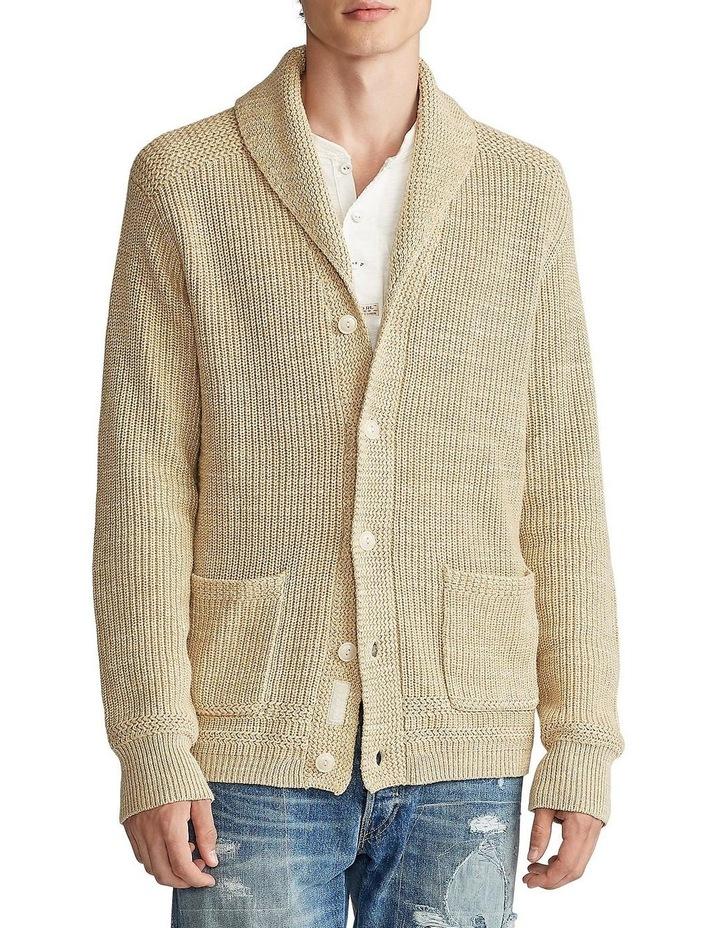 Cotton Shawl-Collar Cardigan image 1