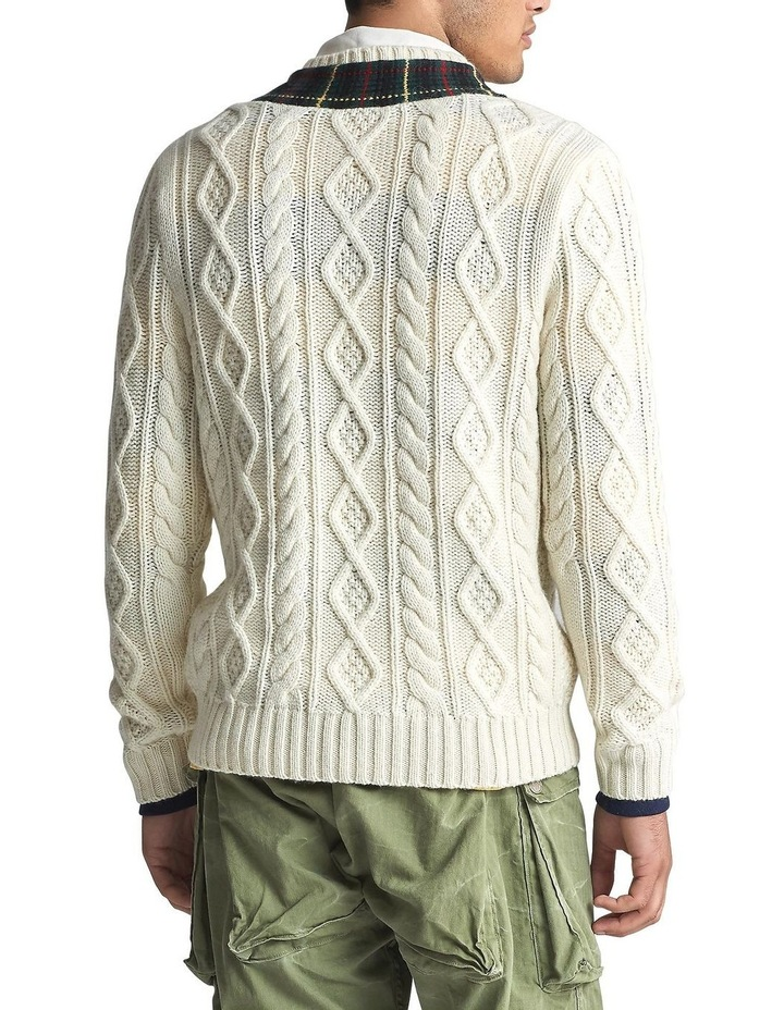 Plaid-Trim Cricket Sweater image 2