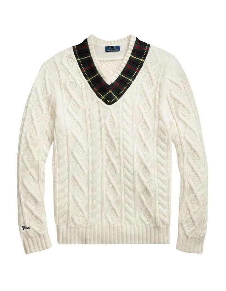 Plaid-Trim Cricket Sweater image 4