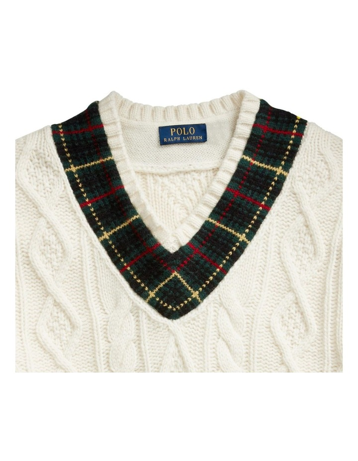 Plaid-Trim Cricket Sweater image 5