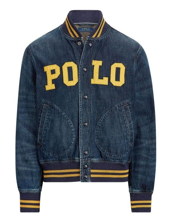 Polo Denim Baseball Jacket image 4