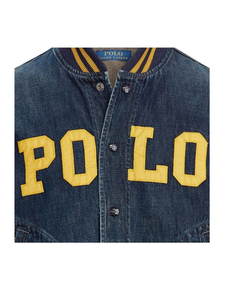 Polo Denim Baseball Jacket image 5