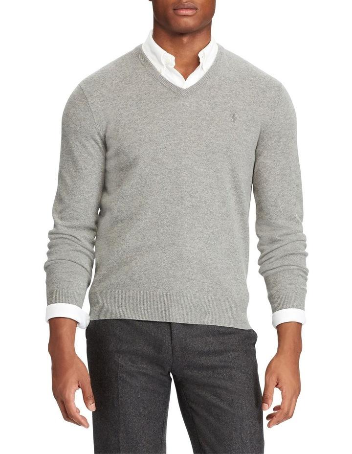 Merino Wool V-Neck Sweater image 1