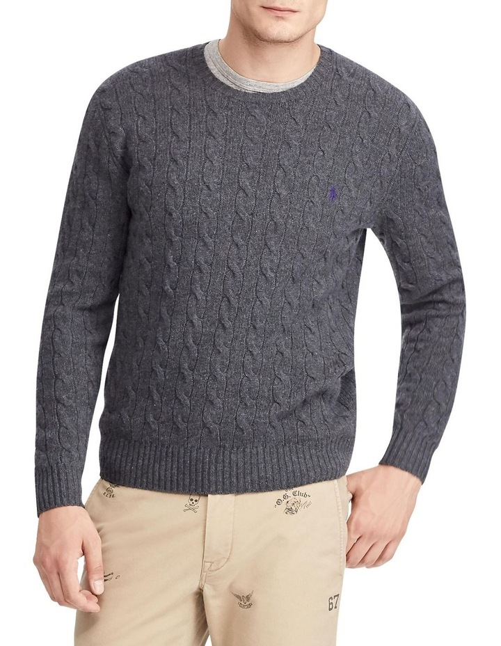 Cable Wool-Cashmere Sweater image 1
