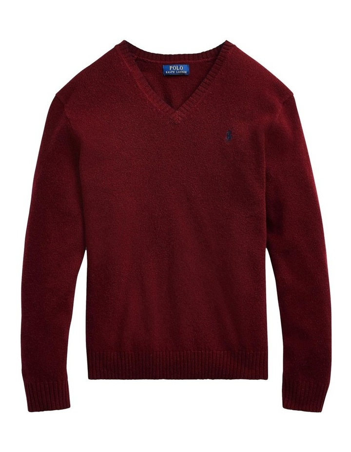 Wool-Cashmere V-Neck Sweater image 4