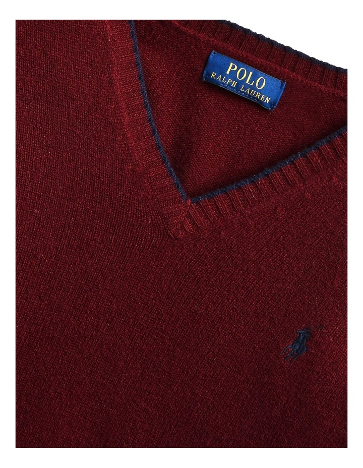 Wool-Cashmere V-Neck Sweater image 5