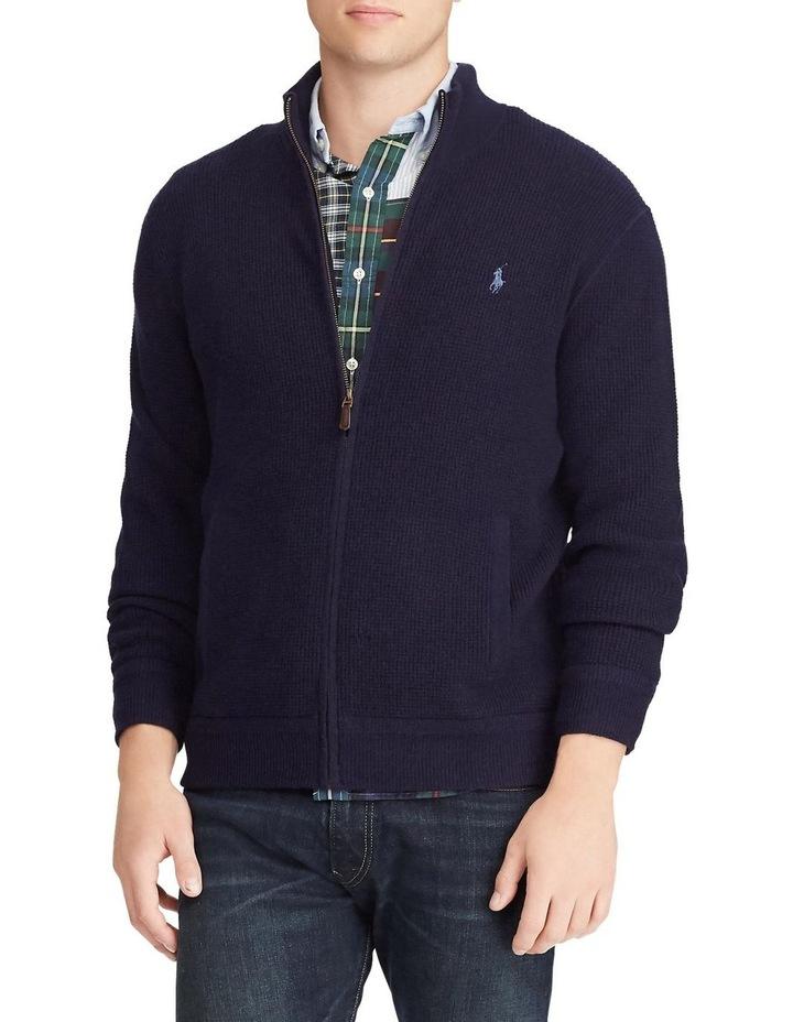Merino Wool Full-Zip Sweater image 1
