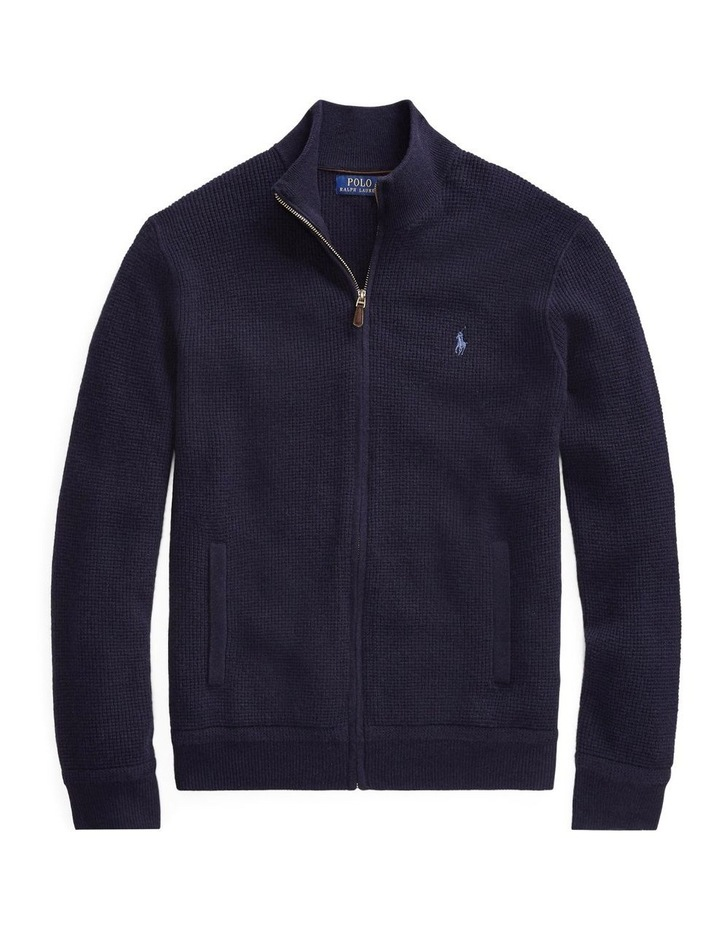 Merino Wool Full-Zip Sweater image 4