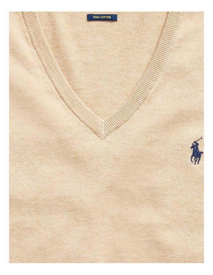 Cotton V-Neck Sweater image 4