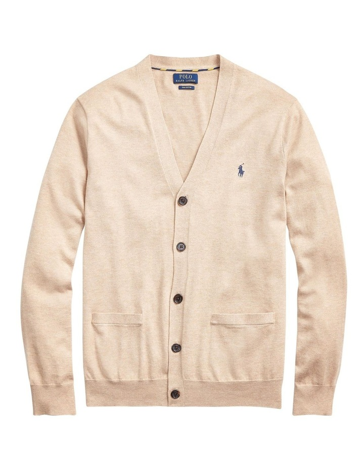 Cotton V-Neck Cardigan image 4