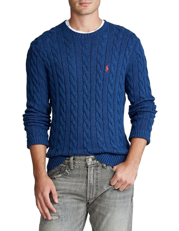 Cable-Knit Cotton Sweater image 1