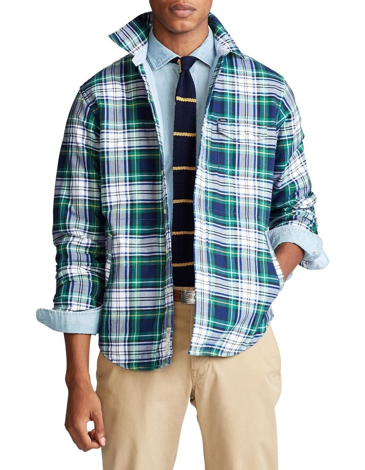 Plaid Oxford Shirt Jacket image 1