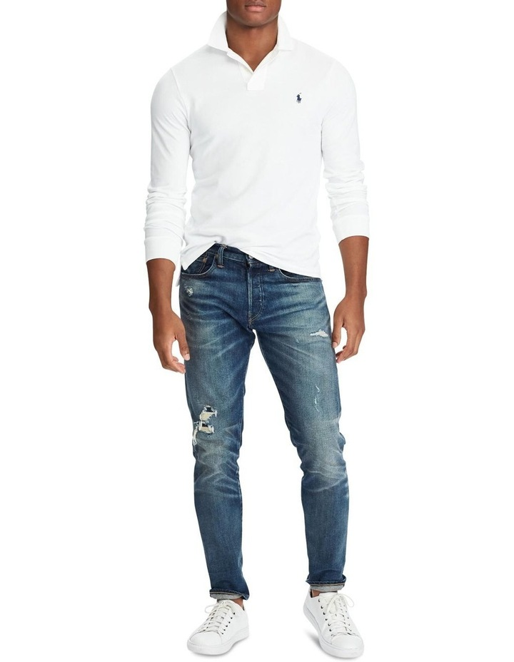 Custom Slim Long-Sleeve Polo image 3