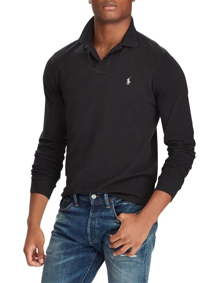 Custom Slim Long-Sleeve Polo image 1