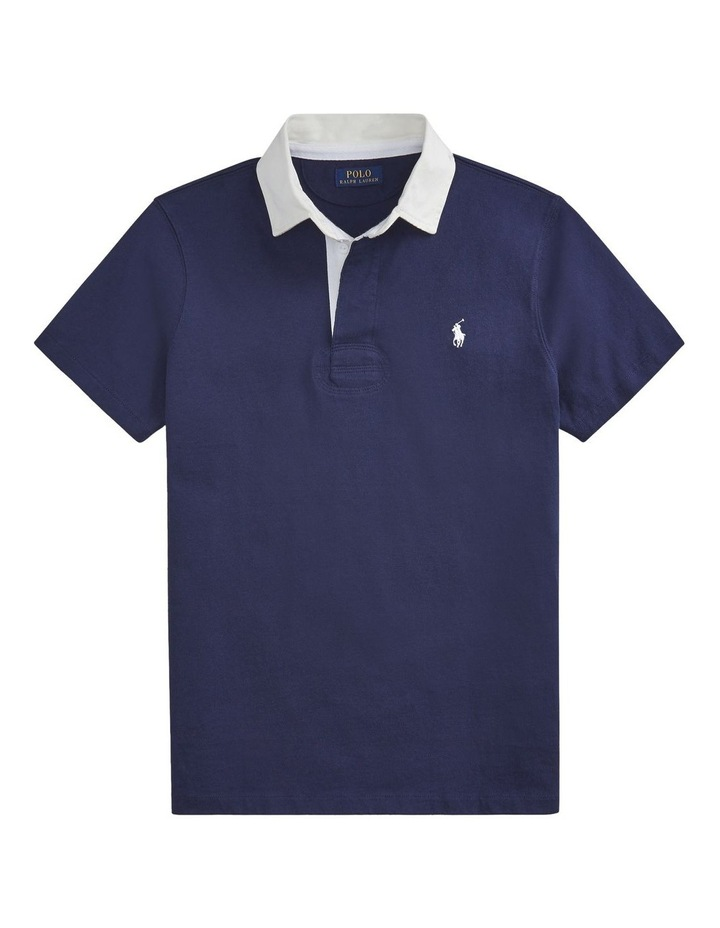 Custom Slim Fit Cotton Rugby Polo image 4
