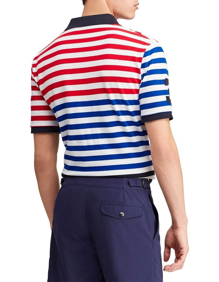 Classic Fit Striped Mesh Polo image 2